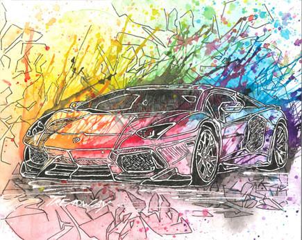 Any Color Looks Good on a Lamborghini