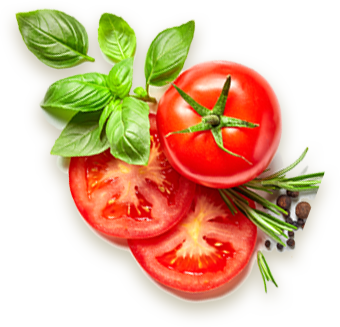 Agua fresh Tomatoes and basil