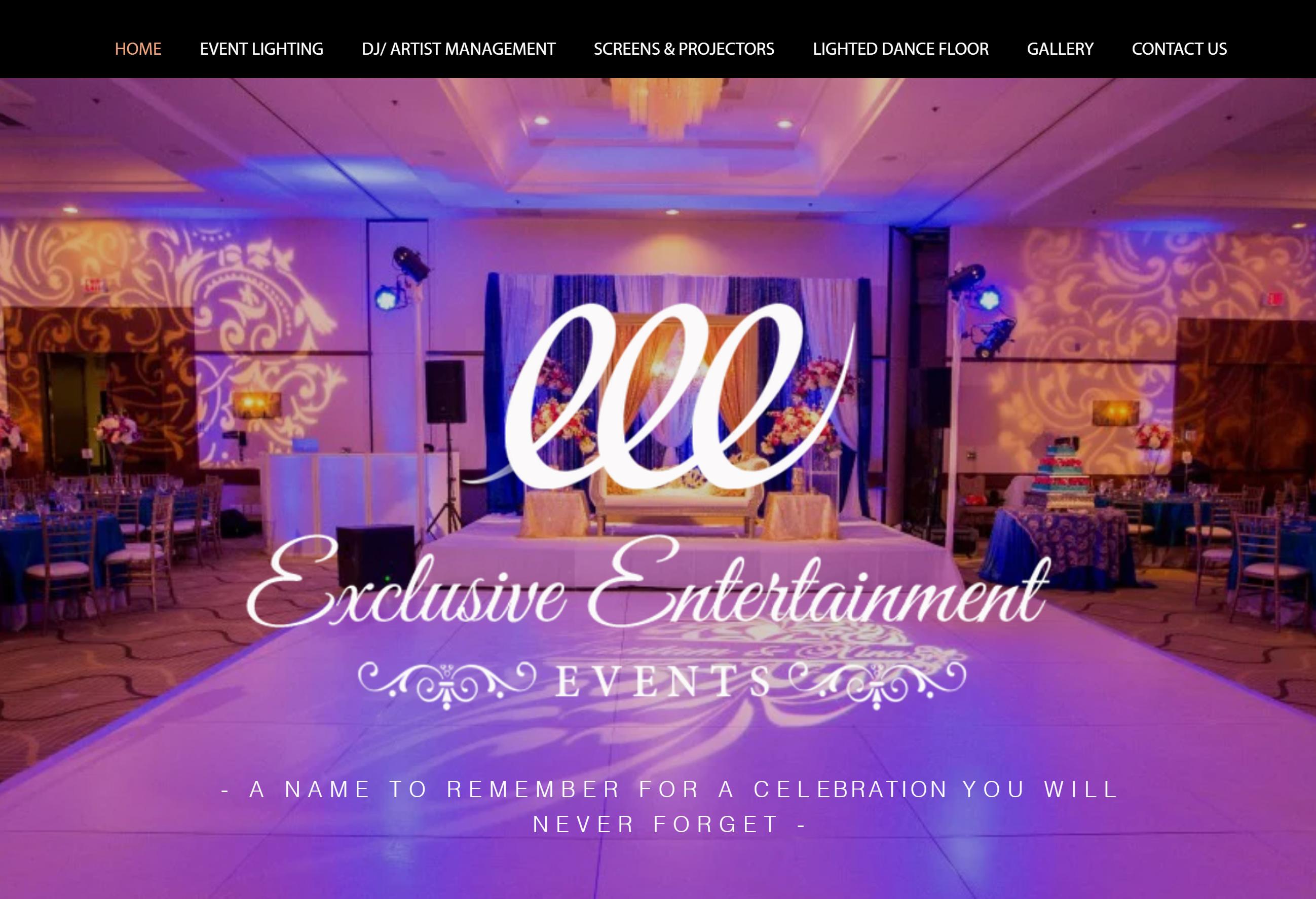 EXCLUSIVE ENTERTAINMENT EVENTS