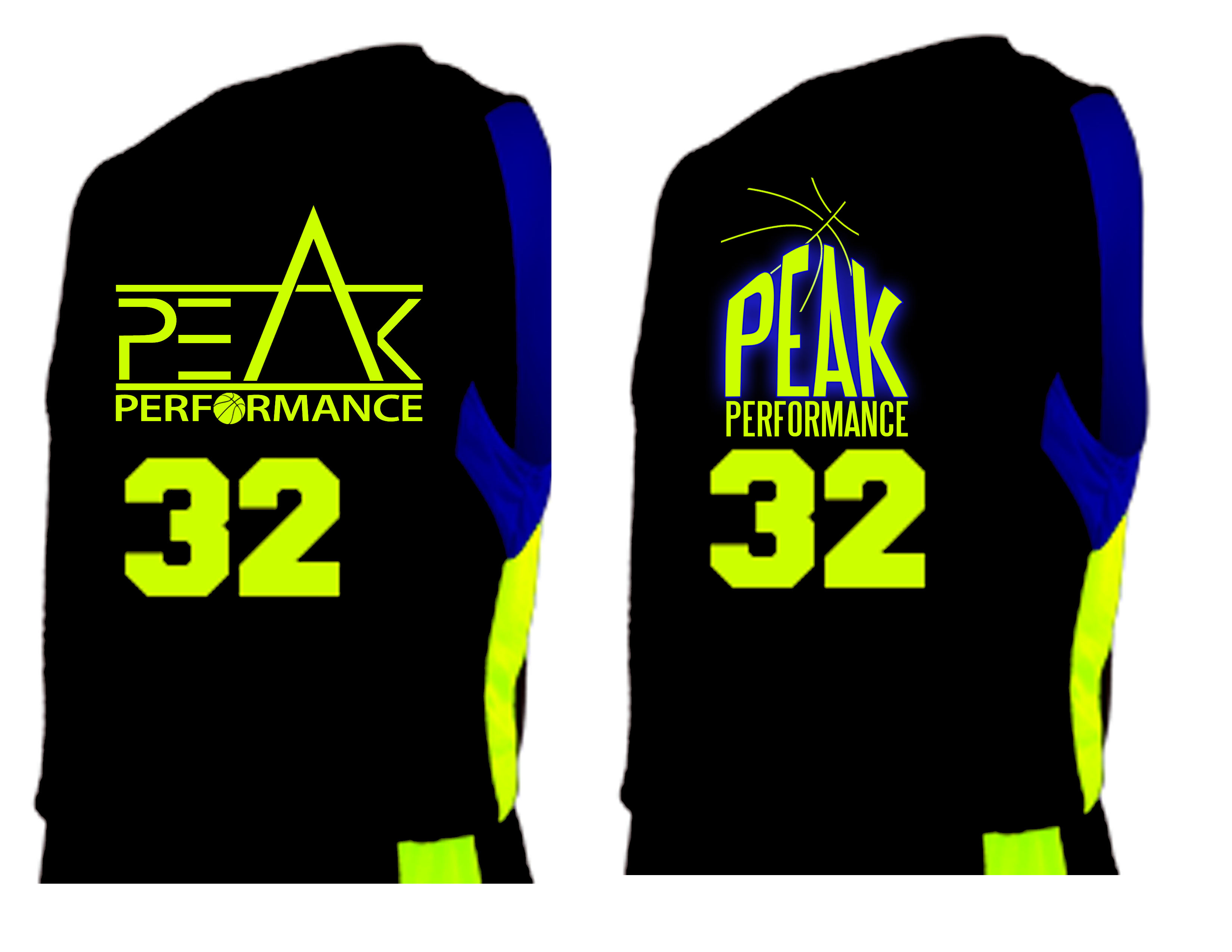 Peak Performance basketball jersey