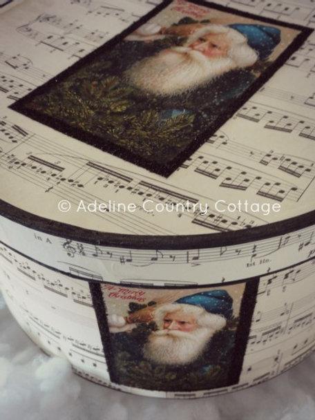 Blue Santa Gift Box