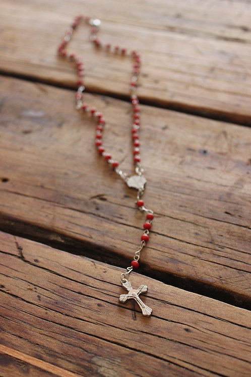 Cross Pendant Long Necklace