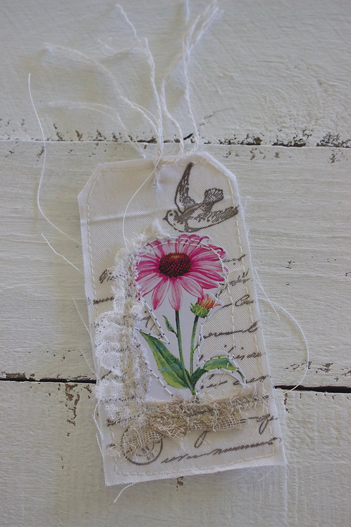 Purple Cornflower Gift Tag