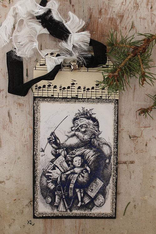 Black Sketch Santa