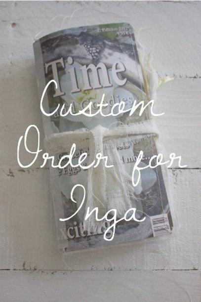 Custom order for Inga