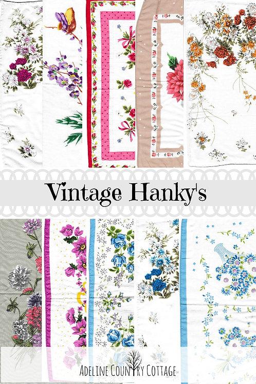 Vintage Hanky's pack 1