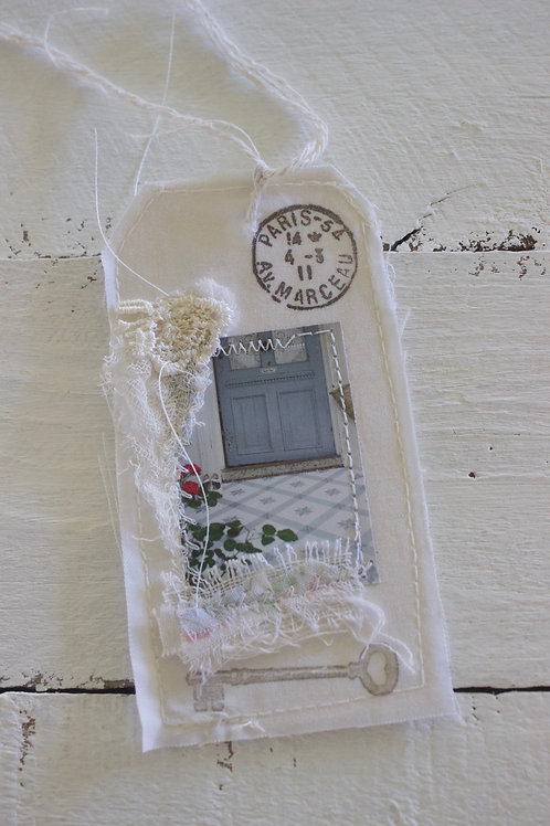 Paris Blue Door Gift Tag