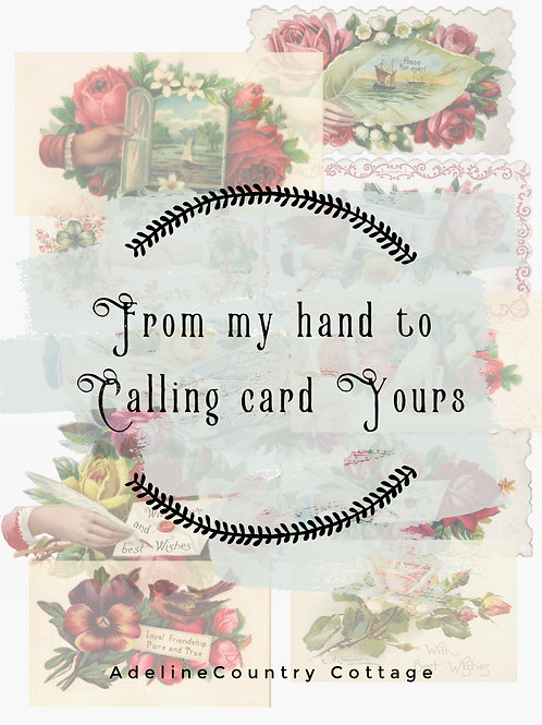 From My Hand To Calling Card Yours
