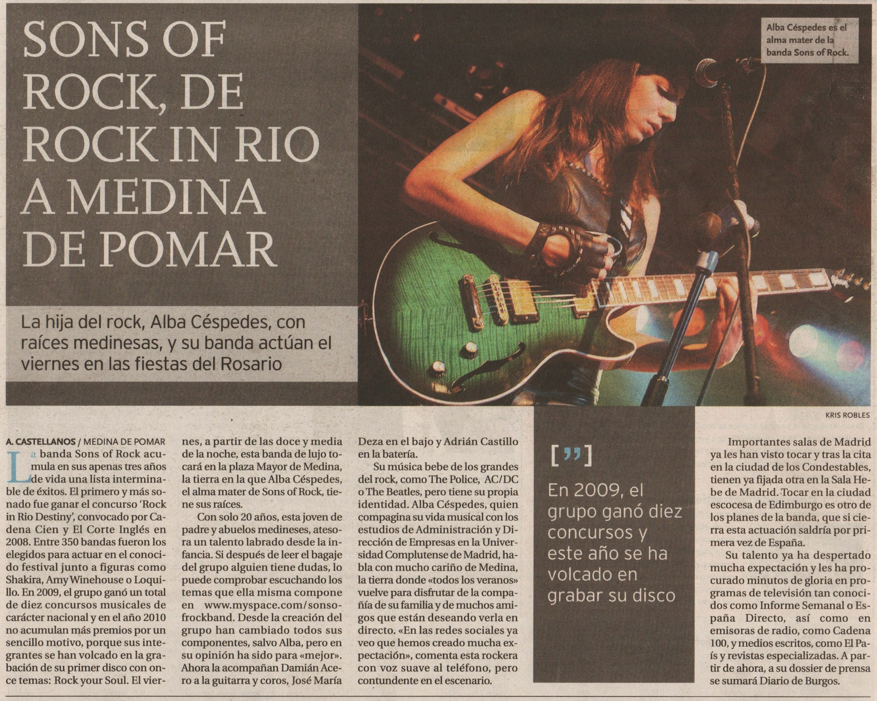 Feature in Diario de Burgos