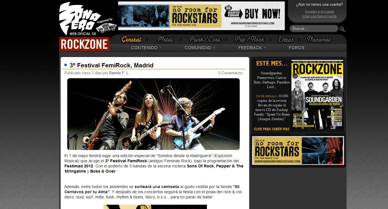 Feature in RockZone