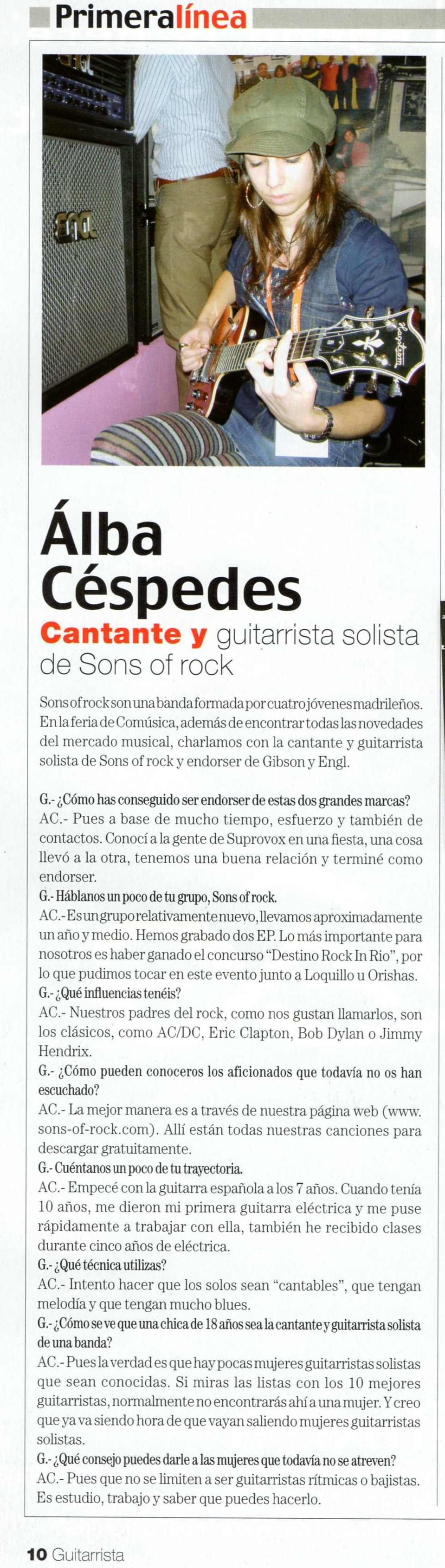 Interview in Guitarrista