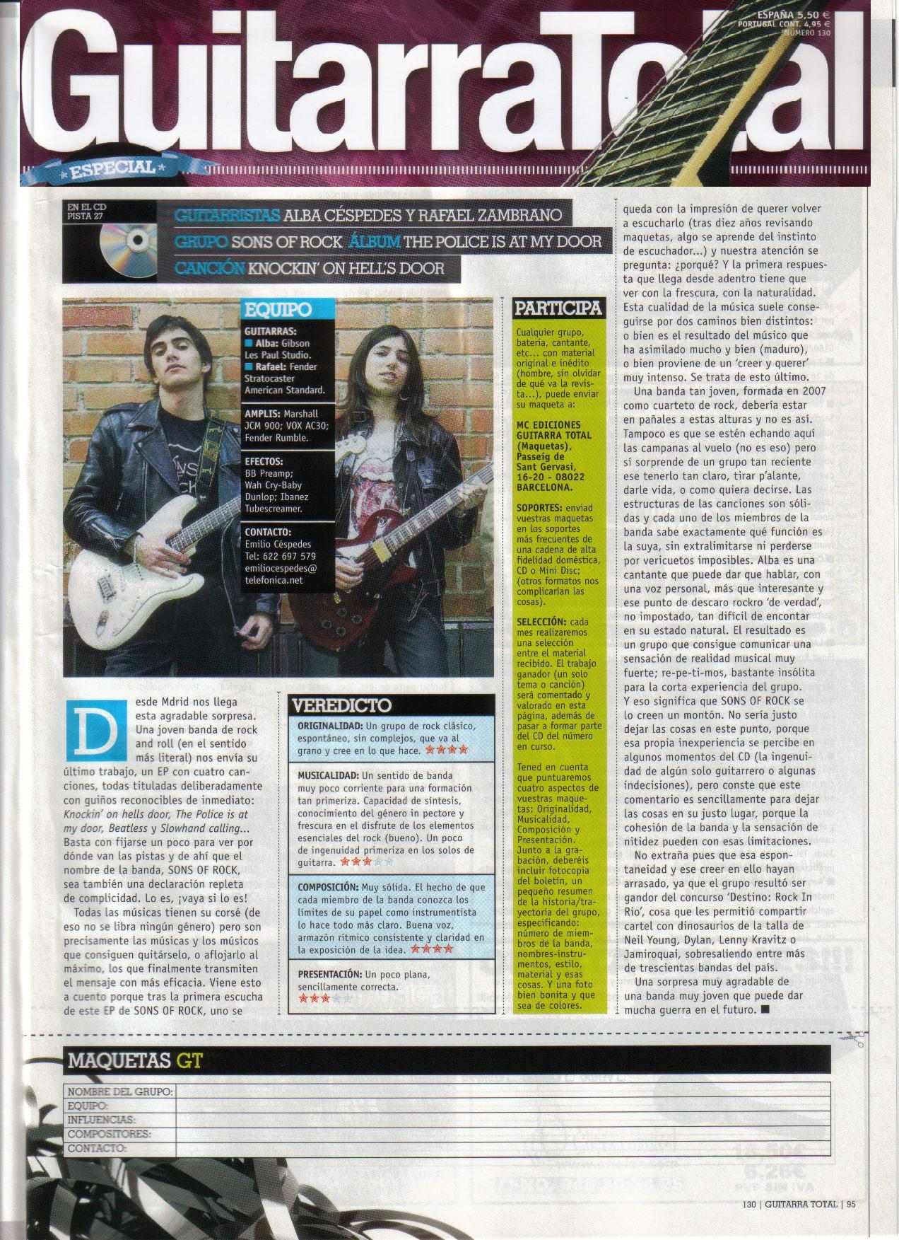 Review by Guitarra Total