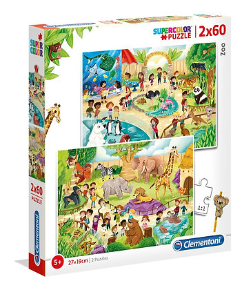 Zoo 2 x 60pc Jigsaw