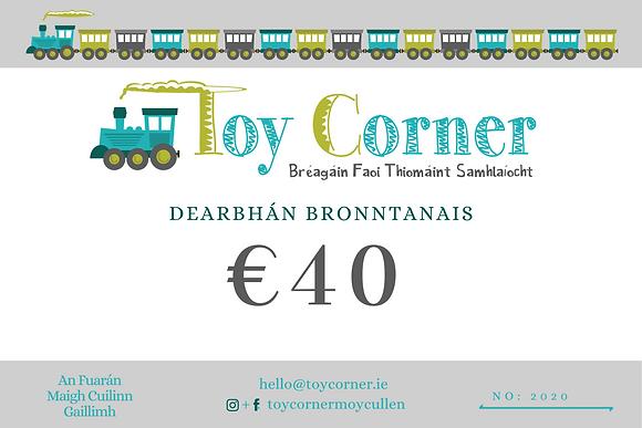 €40 Dearbhán Bronntanais