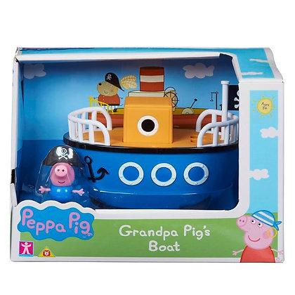 Peppa Pig Mini Vehicle - Grandpa Pig's Boat