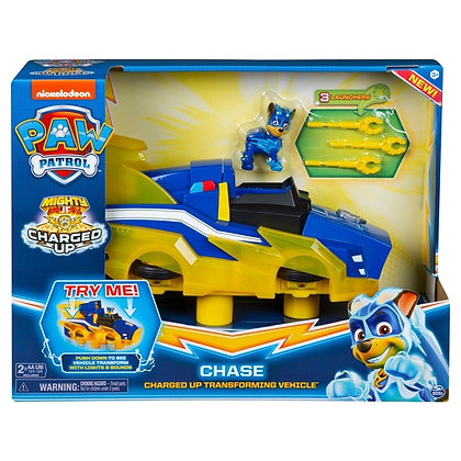 Chase Charged Up Transforming Vehicle - Paw Patrol