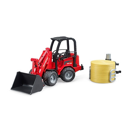 Bruder Schaffer Compact Loader 2034 with Bale Gripper and Bale 1:16 Scale