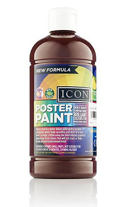 Icon Poster Paint 500ml Burnt Umber