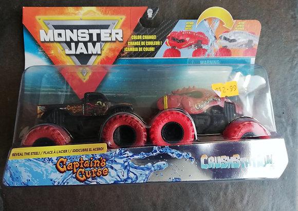 Monster Jam - 1:64 Reveal the Steel 2pk - captains curse