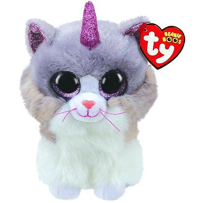 "Asher - 12"" Beanie Boo - Fluffy Unicorn Cat"