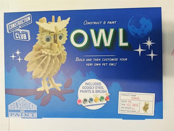 Construct & Paint Owl