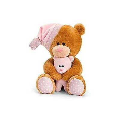 Keel 25cm Pipp Bear with Musical Hat Pink