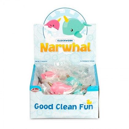 Clockwork Narwhal Bath Toy