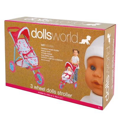 Dolls World 3 Wheel Dolls Stroller