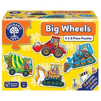 Big Wheels 4 & 8pc Puzzle