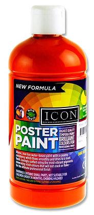 Icon Poster Paint 500ml Orange