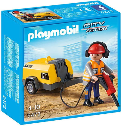 Playmobil City - Construction Worker with Jack Hammer - 5472