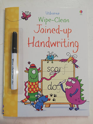 Usborne Joined-Up Handwriting -  Wipe Clean Colouring Book