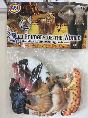 Wild Animal Figures 6pc