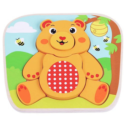 Bear Raised Wooden Puzzle