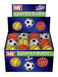 M.Y Rubber Sponge Balls 3pk