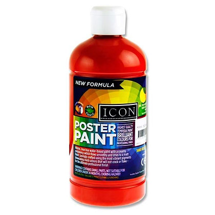 Icon Poster Paint 500ml Scarlet