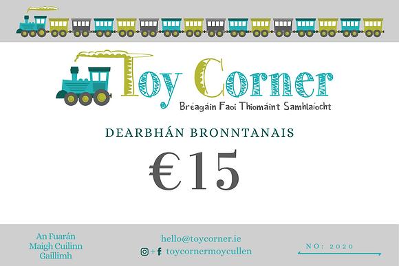 €15 Dearbhán Bronntanais
