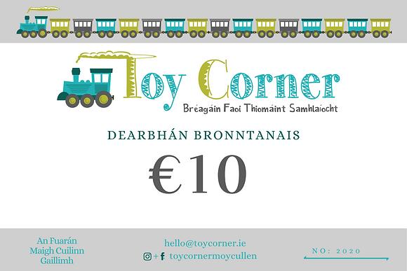 €10 Dearbhán Bronntanais