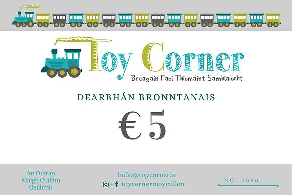 €5 Dearbhán Bronntanais