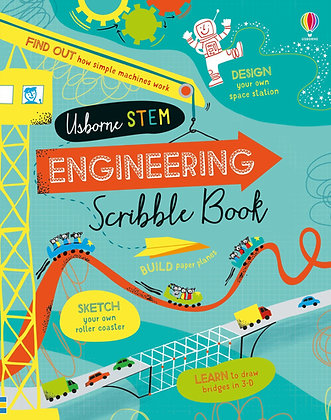Usborne Engineering Scribble Book