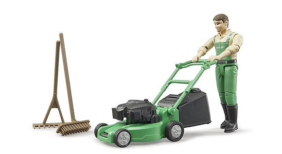 Bruder Gardener with Mower and Accessories 1:16 Scale