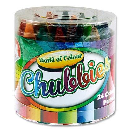 Chubbies - 24 Pk Washable Crayons