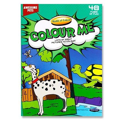Colouring Book 48pg A4 - Awesome Pets