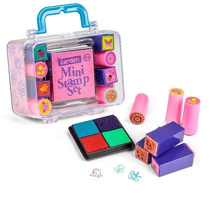 Mini Stamp Set Pink Garden Theme