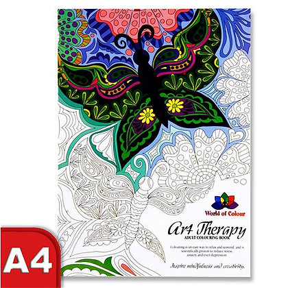 World of Colour Art Therapy Colouring Book