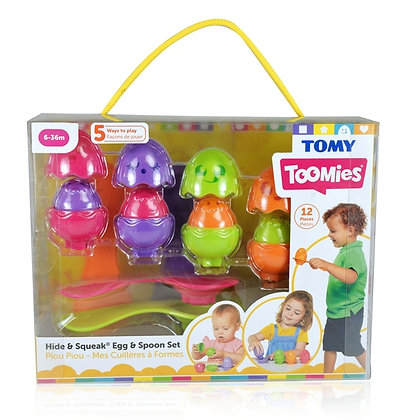 Tomy Toomies - Hide & Squeak Egg & Spoon Set