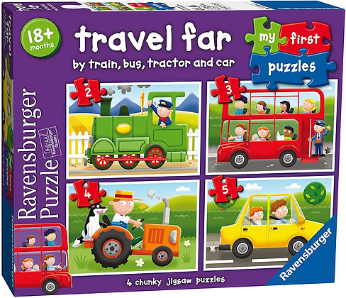 Travel Far - First Jigsaw Puzzle -  2-5pc