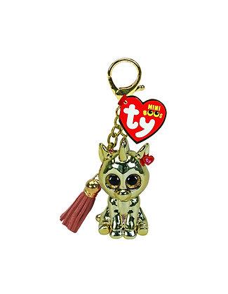 Gold Unicorn Mini Boo Key Clip - TY