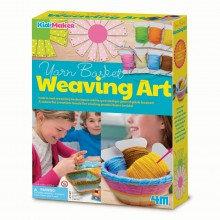 Yarn Basket Weaving Art - Kidz Maker Craft Kit