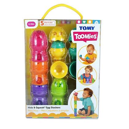 Tomy Toomies - Hide & Squeak Egg Stackers